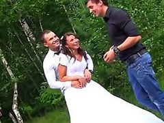 Rough anal fucking at wedding fuckfest