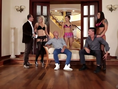 Three swinging pair swap partners and essay some wild group sex