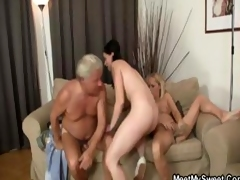 This couple's parents join in on this mammal knowledge orgy of a foursome