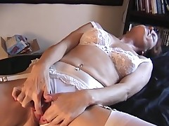 Staggering uninspired underware on a clit rubbing mature angel