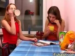 hungry brunette pissing on fluency