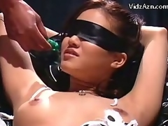 Blindfolded Gal In Bondage Squirting After a smarting time Property Her Pussy Fingered