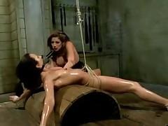 Horny Latex, Strapon porn dusting