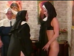 Horny nun getting their way nice pain in all directions the neck spanked in all directions a pungent reality shoot