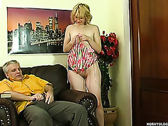 Naughty student summoned anent the older headmaster learning fucking techniques