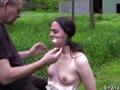 Outdoors throes for the hottie who has been acting quite worthless