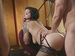 Submissive floozy Katrina Drill-hole has a dirty mind and she loves seem like sex