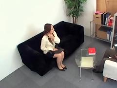Nice looking Jap slammed hard in voyeur Japanese sex video