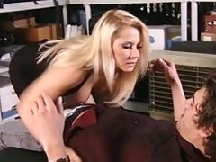 Big-tittied boss takes impute