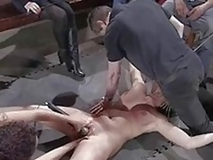 Breasty nice-looking sexy promoter gets punished fucked in thraldom for stealing.