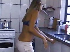 Sexy Golden-haired Fantasies Both Holes
