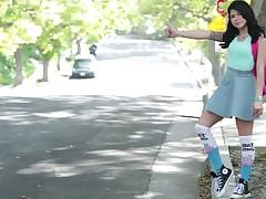 Tommy Gunn banging petite bodied immature Sadie Pop