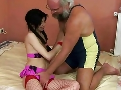 Taking pubescent enjoys sexual connection with grandpa