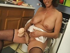 Housewife cleans say no to dildos and fucks say no to pussy