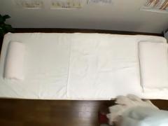 Hidden webcam massage movie scene of hot Jap fucking her masseur