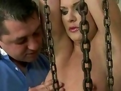 Low-spirited girl getting punished and fucked