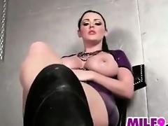 Perverted Shrew Teasing Her Big Milk sacks