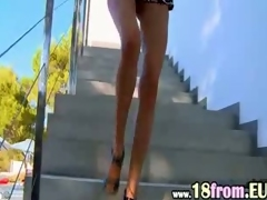 Watch brunet russian alongside quake peeing
