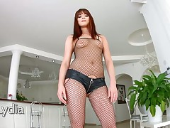 Tacky anticipating slut just about fishnet stockings Lydia Lust takes part just about gangbang chapter