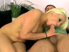 Ginna Brigitta is amazing blonde milf with big boobs that loves to fuck her stepson