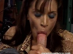 Devon Michaels can't sleep at night until she gets a throbbing cock in her mouth