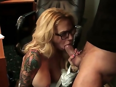 Breathtaking blowjob sex action with Alan Stafford and Sarah Jessie - it is what would make you turned on. Busty tattooed woman with amazing body is going to suck before cunnilingus.