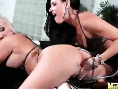 Blonde India Summer licking Molly Cavallis wet spot like it aint no thing in steamy lesbo action