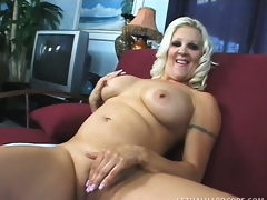 Big breasted blonde mommy Veronica Vaughn is in need of a stiff knob deep in her cunt