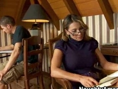 Horny chap fucks his sexy teacher