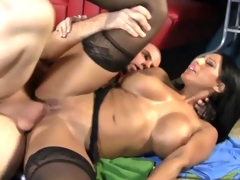 Hot mom takes a big dick in her cockhungry cunt