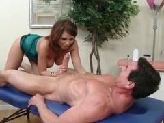 Sensual massage and big cock BJ