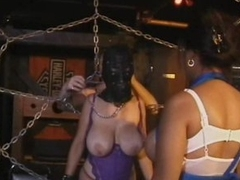 Brunette MILF With Big Natural Boobs Acquires Fastened Up and Tortured