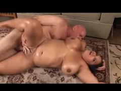 Fat oiled up slut drilled hard