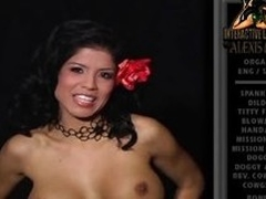 Alexis Amore strips off will not hear of top and shows us will not hear of distinguished boobs