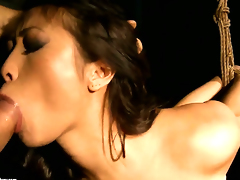 Teen Sharon Lee just needs her overwhelming sexual desire to be fulfilled in steamy interracial act