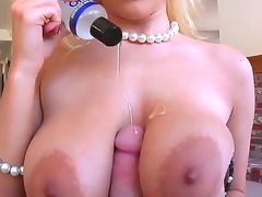 Have a fun Jonni Darkkos POV scene with titfuck and blowjob by  Haley Cummings with huge jugs