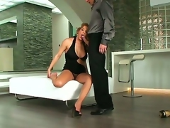 A backstage movie with buxom blonde lady Ana Monte Real and her lover with hard cock