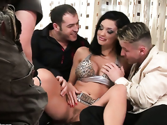 Aletta Ocean with giant melons sucks dudes beefy rock hard love wand like theres no tomorrow