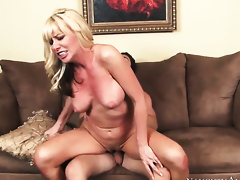 Seth Gamble is one hard-dicked dude who loves banging With giant hooters and shaved pussy