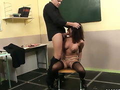 Angelica Heart with giant knockers is in heaven fucking with hard cocked fellow in hardcore action