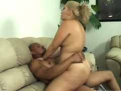 Busty babe Vanessa Lee moves on top of her black lover and rides his huge dick