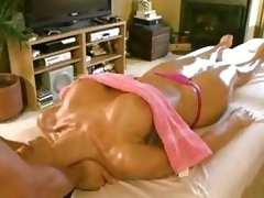 Sexy Blonde Gets Oily Fuck
