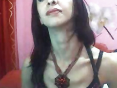 Horny Lady-boy Masturbate Her Cock