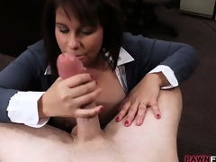 Hot loving wife will do anything for the cash for her hubby