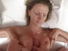 Titjob and a big cumshot be proper of the babe