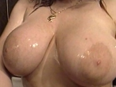 Join this megaboobed, blonde whore in the shower, as she gone naked,...