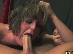 Pussy stuffed by dildo