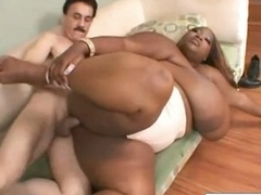 Old Man Fucks BBW Ebony Slut