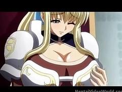 Huge tits fill this venereal hentai video