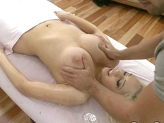 Kagney Karter busts out her milk bags for some tender loving care